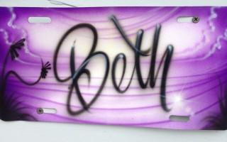Graffiti license plates