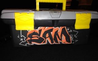 Graffiti tool boxes personalized