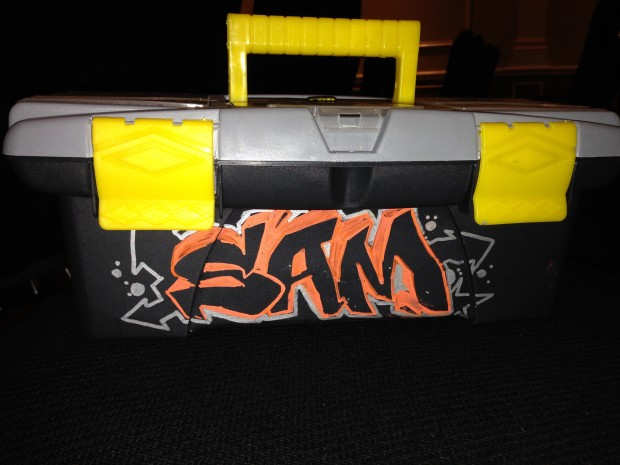 Graffiti tool boxes personalized